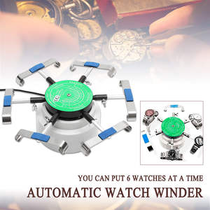 220v Automatic Watch Winder Left Right Rotation Watch Repair Tool For 6 Watches