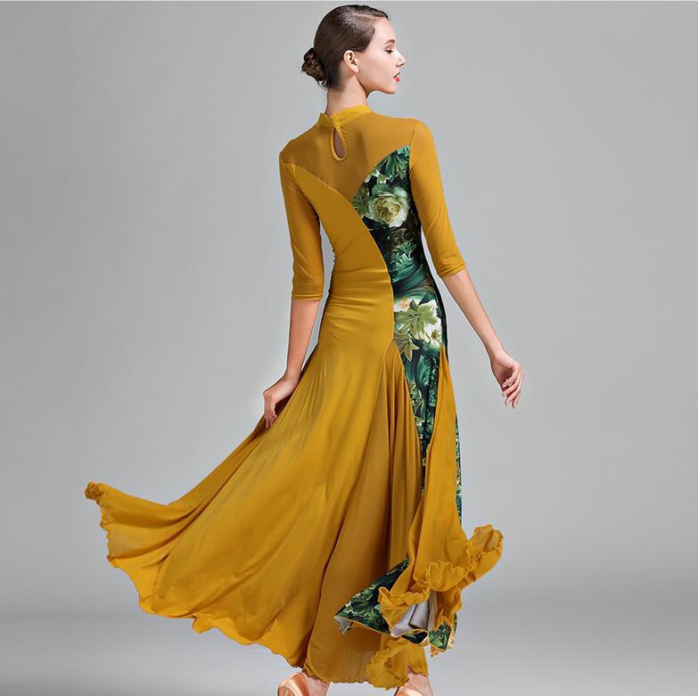 New Arrival!Figure skating dress Long sleeve Fashion Modern Standard ballroom dress