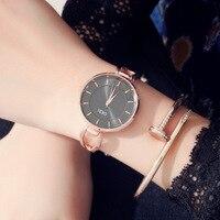 Women Luxury Ultrathin Bracelet Watch Personality Fashion Brand Rose Gold Quartz WristWatches Ladies Dress Sport Watch