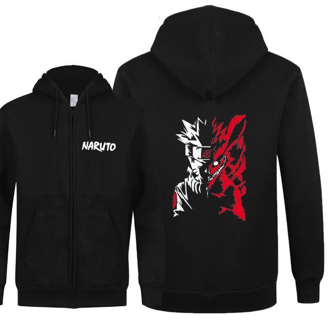 Uzumaki Naruto Zipper Fleece Hoodies