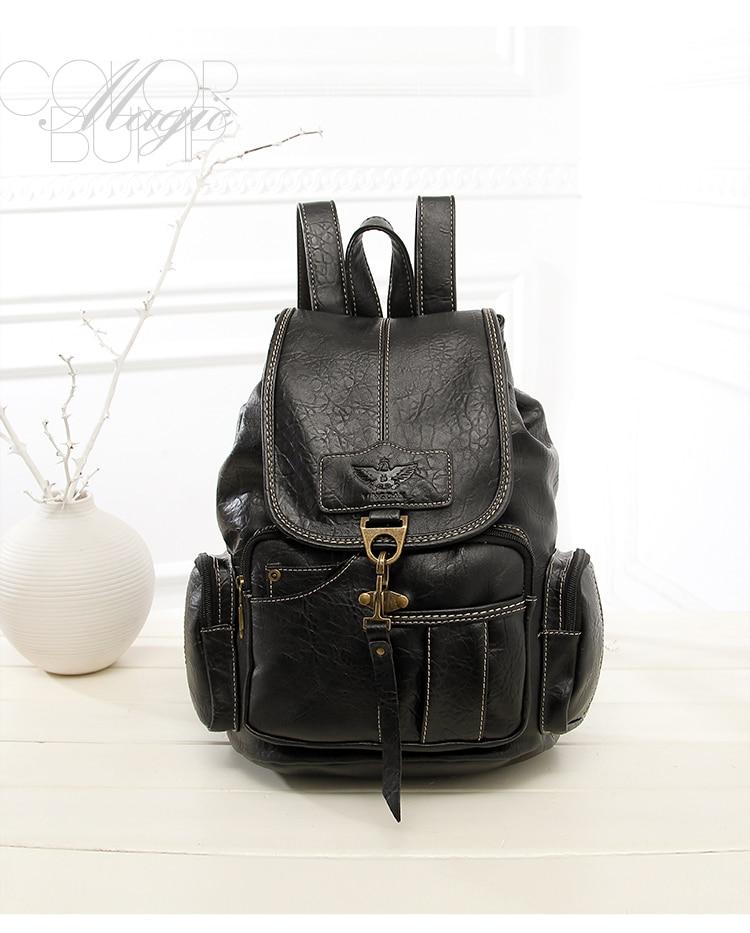 HTB1Gkr qm8YBeNkSnb4q6yevFXa2 High Quality Women Backpack Vintage Backpacks For Teenage Girls Fashion Large School Bags PU Leather Black Mochila Feminina