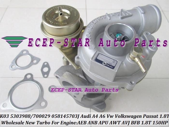 K03 29 53039880029 058145703jx 058145703jv 058145703n турбо для Audi