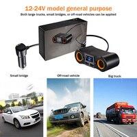 Car Partment Multi Socket Car Charger Car Cigarette Lighter Splitter Dual USB Ports Sockets 12 24V