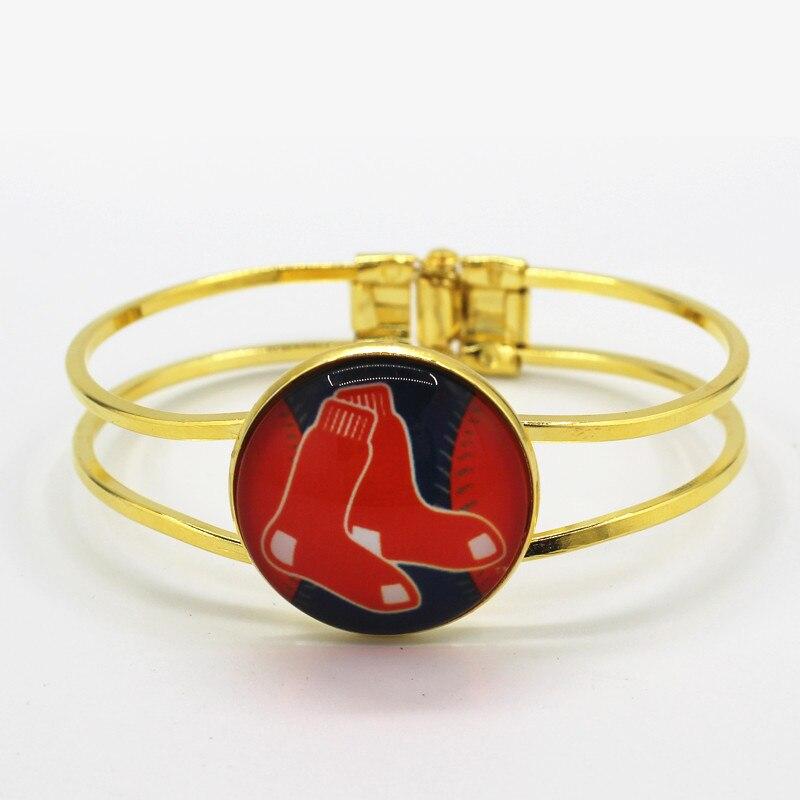 sports Boston Red Sox baseball team charm alloy bracelets 6pcs/lot for man woman fashion bracelet jewelry
