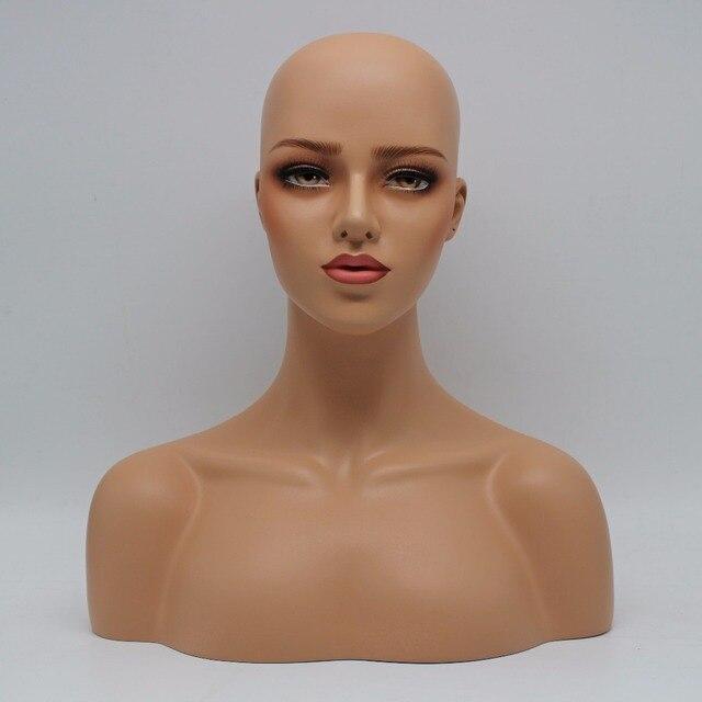 Poważnie Kobiet realistyczne z włókna szklanego manekin głowy biust OS22