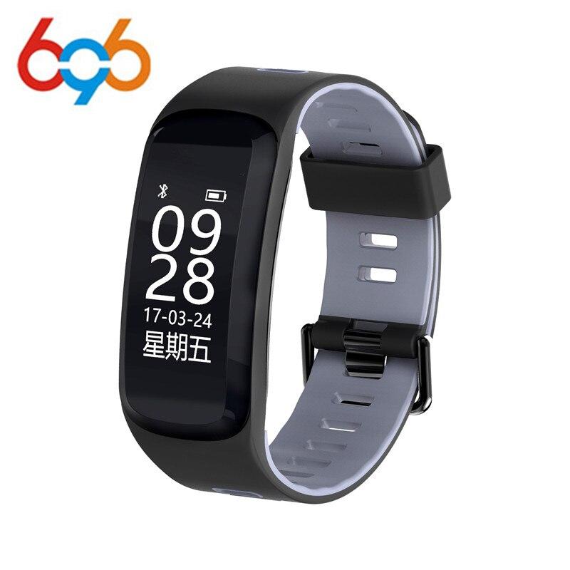 696 F4 Smart bracelet Altitude Température ip68 Étanche Sang Pression Intelligent Bracelet de Fréquence Cardiaque Sport Fitness tracker Smart