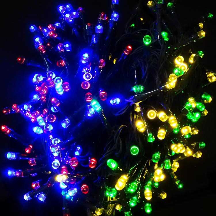 high quality multicolor RGB Christmas Solar Power LED String Lights 200 LED 20M Garden Outdoor ...