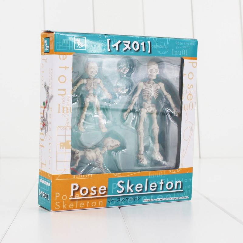 3-8cm Pose Skeleton Action Figure Human Adult Child Dog Skeleton Body Chan Body Kun Bones Youth Model Doll shfiguarts pvc body kun body chan body chan body kun grey color ver black action figure collectible model toy
