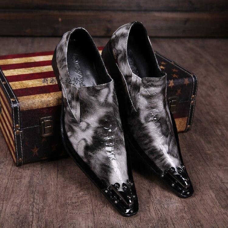Ayakk.'ten Resmi Ayakkabılar'de En Kaliteli Erkekler Düğün Ayakkabı Yüksekliği Artan İngiliz Tarzı Hakiki deri Mens Oxfords bağcıksız ayakkabı Boyutu 39 46 Gerçek Pics'da  Grup 2
