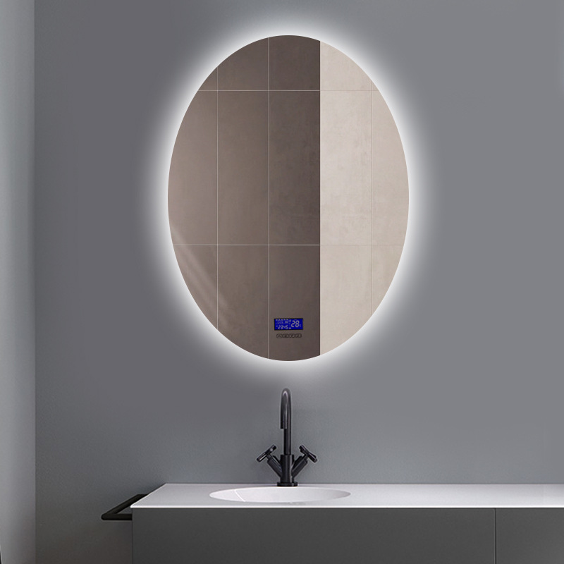 Intelligent Anti-fog Bathroom Vanity Mirror Touch LED Mirror Wall Makeup Screen Show Time Date Temperature And Bluetooth Music 2