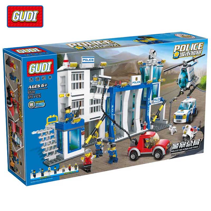 GUDI Police Arrest Suspect Educational Toys Assembled Fight Inserted Plastic Building Blocks Assembled Toys puzzle toy building blocks assembled fight inserted toys
