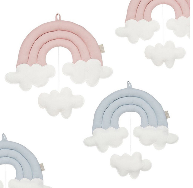 Home Decoration Creative Three Dimensional Rainbow Clouds Bedside ...