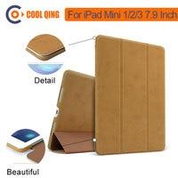 retina ipad For iPad Mini Retina 100% Original Baseus Brand Sleep/Wake Up Fold Stand Leather Case Smart Cover For iPad Mini 1 2 3 Retina (1)