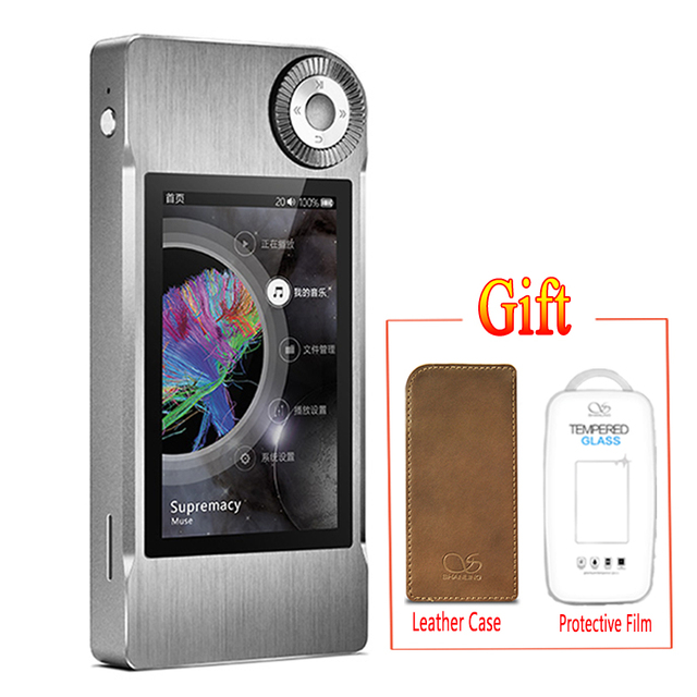 SHANLING M5 (+leather case+film free )Portable Hifi DSD FLAC MP3 Music Player AK4490 AD8610 MUSE8920 Support DSD64 / DSD128