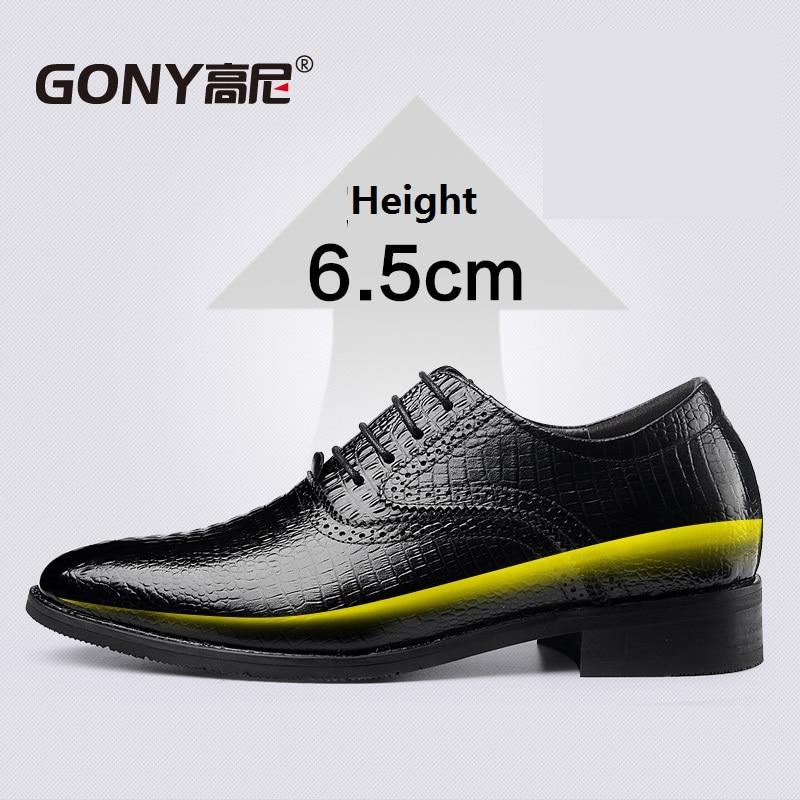 Zapatillas de Hombres de Cuero de Ante de Cuero Genuino Para Hombres Aumento de La Altura de Zapatos Para Hombre (42, DE Color Marrón Claro)