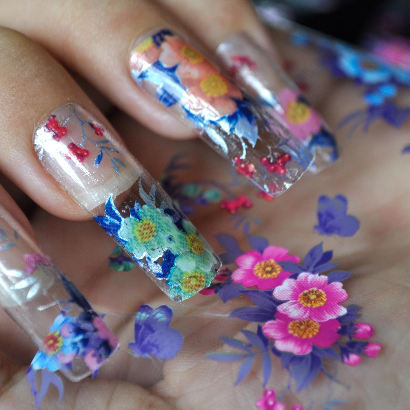 Nail art Transferfolie Nagel aufkleber spitze dekoration Aufkleber ...