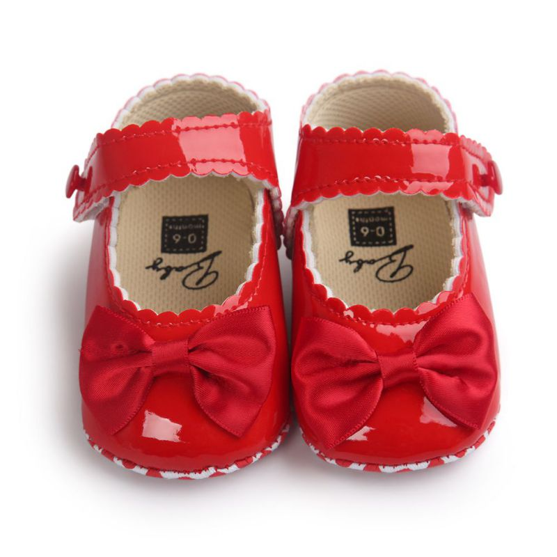 7490f7990e1 US $3.08 16% OFF|Infant Baby Boy Soft Sole PU Leather First Walkers Bebe  Crib Bow Shoes Moccasins Shoes 0 18 Months-in First Walkers from Mother &  ...