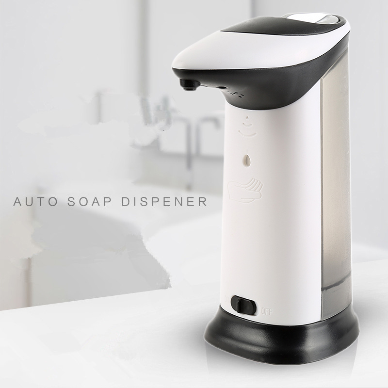 420ml Automatic Soap Dispenser ABS Electroplated with Built-in Infrared Smart Sensor Touchless Sanitizer for Kitchen Bathroom auto hand soap dispenser with ir sensor auto sensor touchless hand free sanitizer hand washing liquid bottle