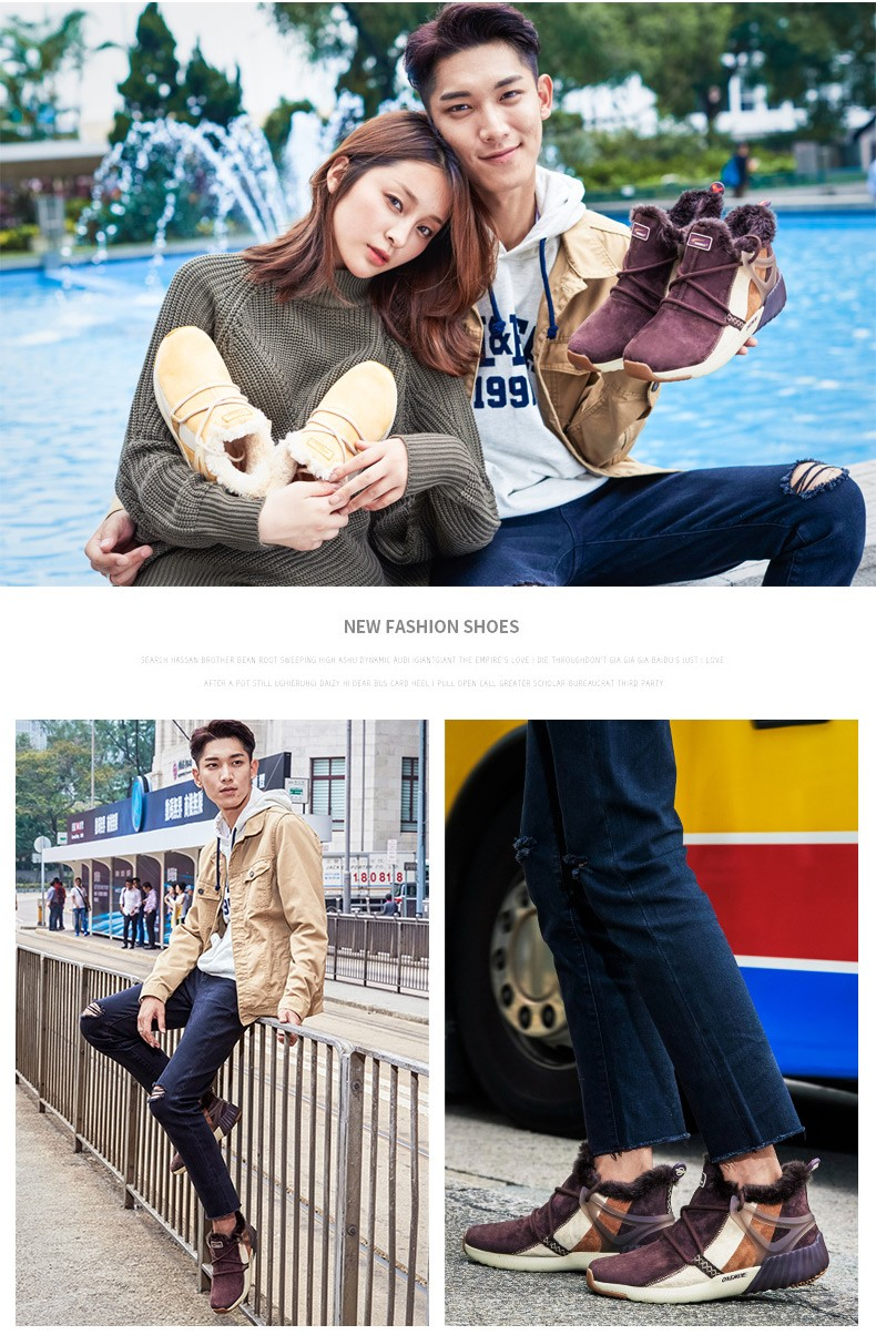 ONEMIX Winter Boots Men & Women Warm Wool Sneakers Outdoors Neutral Sports Sneakers Comfort Running Shoes Sale Size 36-45 18