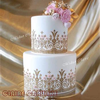 Najnowszy angielski ogród wzornik ciasto wzornik ciasto kremówki i malowanie czekolady formy tort weselny krawędzie dekoracje tanie i dobre opinie Przybory do ciasta Lfgb CE UE Na stanie Ekologiczne MCS-049 Z tworzywa sztucznego carunke