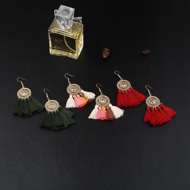 Ethnic Tassel Earring Handmade