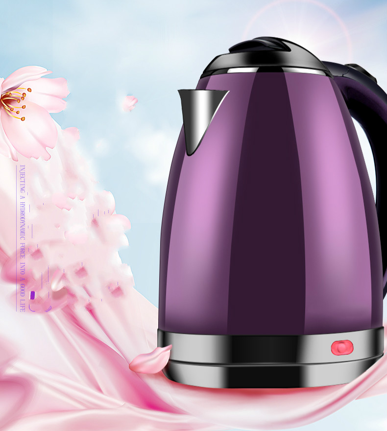 Electric kettle household hostel stainless steel insulation electric automatic power off waterElectric kettle household hostel stainless steel insulation electric automatic power off water