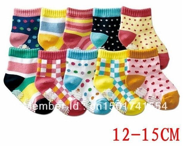 AW114 free shpping New arrival hot-selling 100% cotton children socks slip-resistant small kid's socks baby floor socks