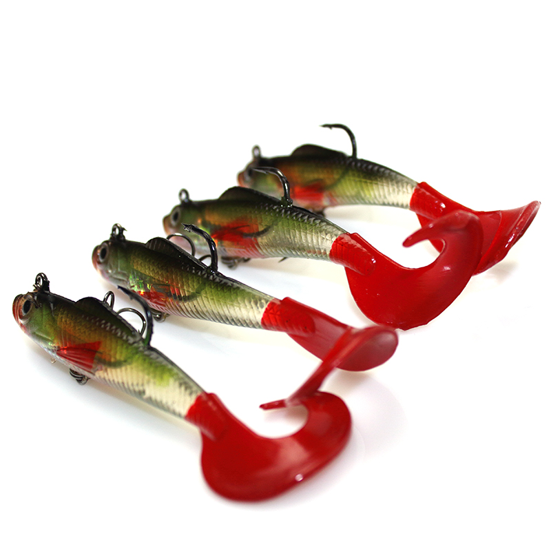 YeMuLang 1pcs 8cm 9g Swimbait Doux Appâts Artificiels Leurres de - Pêche - Photo 3