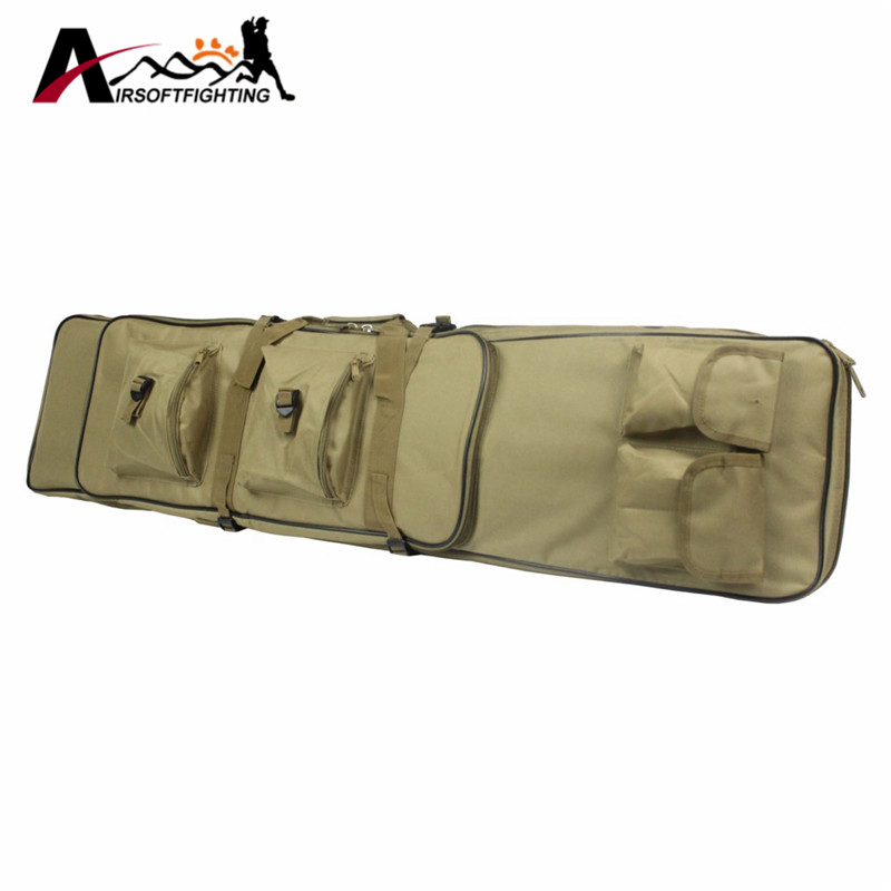 ФОТО 120CM Tactical Dual Rifle Bag with Shoulder Strap Military Combat Hunting Shotgun Rifle Square Carry Bag Hunting Accessories