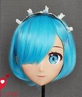 (NEW 27) Realistic Halloween Party BJD Baby Doll Anime Mask Cosplay KIG Anime Silicone Masks Cosplay Kigurumi Cross Dresser