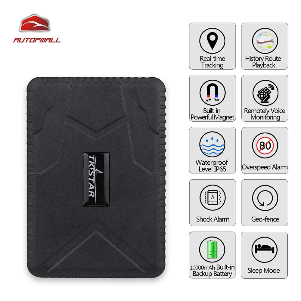 GPS Tracker TK915 Car Vehicle GPS Locator 10000mAh Battery Standby 120 Days Waterproof Magnet Loosing Alarm Free Web APP Track