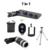Câmera com zoom de 8x telephoto lente do telescópio do telefone móvel universal 7in1 titular 3in1 fisheye lente lentes do obturador bluetooth para iphone