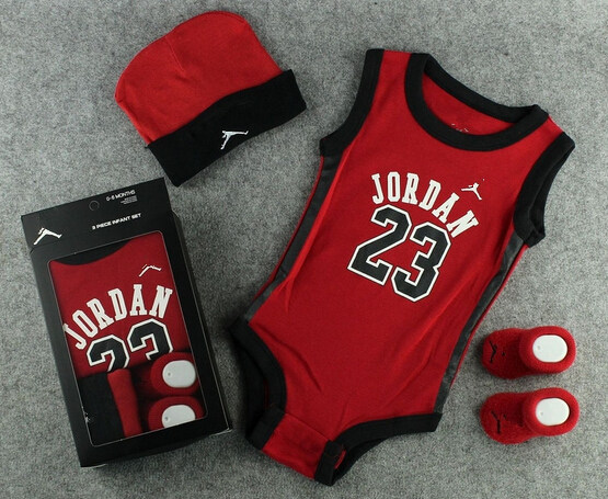 23 jordan basketball baby aj jd bodysuit with gift ox. Black Bedroom Furniture Sets. Home Design Ideas