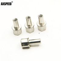 4 pcs/set Metal Nuts  Wheel Hub Hex Drive Adapter 15mm/20mm/25mm Extension For Rc Car 12mm Parts & Accessories    -