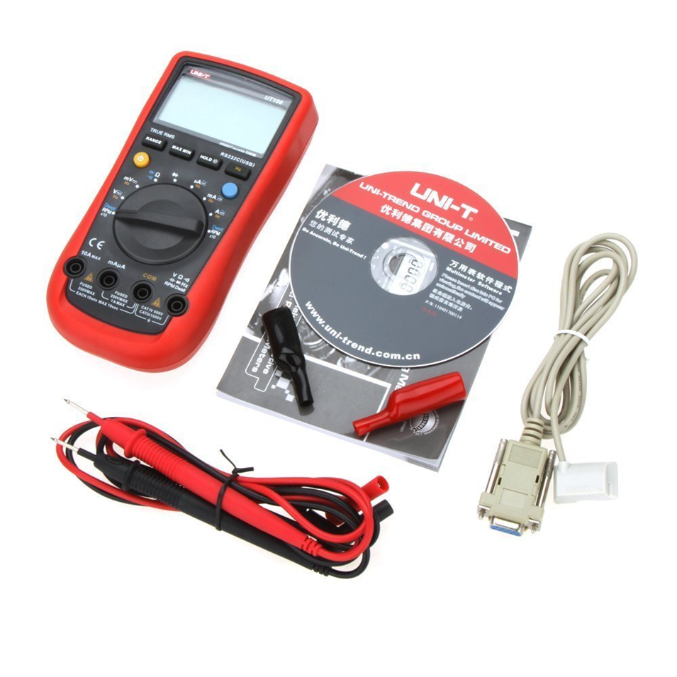 2017 NEW UNI-T UT108 Digital Multimeters Handheld Automotive Multi-Purpose Meters AC DC Volt Amp Ohm Hz Temp Meters 2000 Counts high quality uni t ut210e handheld lcd digital multimeters ac dc