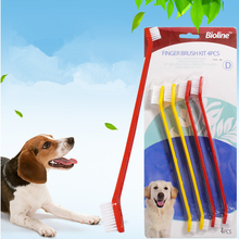 4PCS/Set Dog Cat Pet ToothBrush Animal Toothbrush Most Effective Tooth Brush Pets Oral Care Supplies Puppy Toys