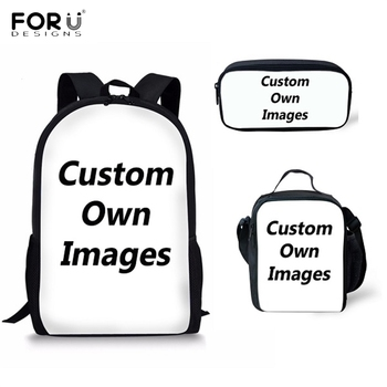 FORUDESIGNS Custom Your Own Logo/Image/Photo Print School Bags for Boys Girls Students Schoolbag Casual Children Backpack - sale item School Bags