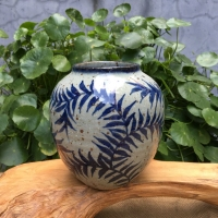 Jingdezhen Blue And White Porcelain Vase Hand painted Stoneware Vase Retro Chinese Traditional Hydroponic Decoration Vase 23