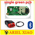 100% newest green relays Single Board PCB new vci With bluetooth 2015 r1 version on cd with carton box TCS CDP PRO ship free