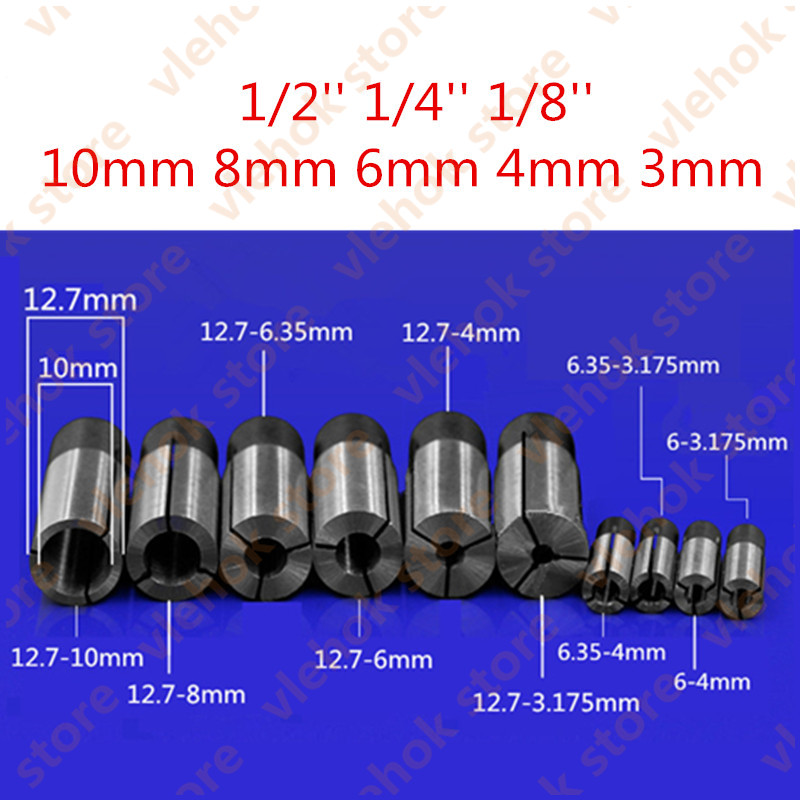"""6mm to 3.175mm 1//8/"""" Engraving Bit CNC Router Tool Adapter For 6mm Collet CN"""