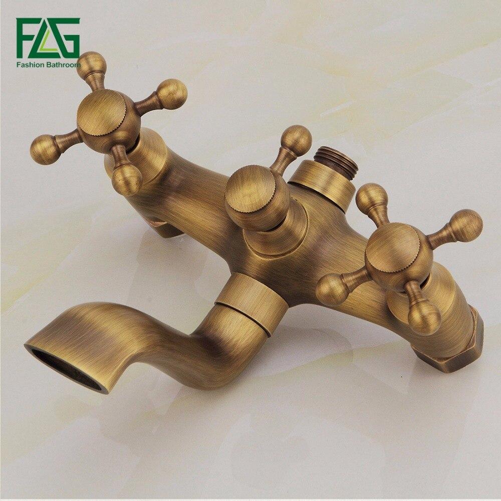 Antique Bath Faucet Shower Bronze Porcelain Shower Faucet Bathroom ...