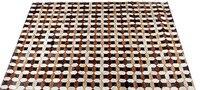 Модные художественный ковер 100% натуральная яловая кожа меховой коврик