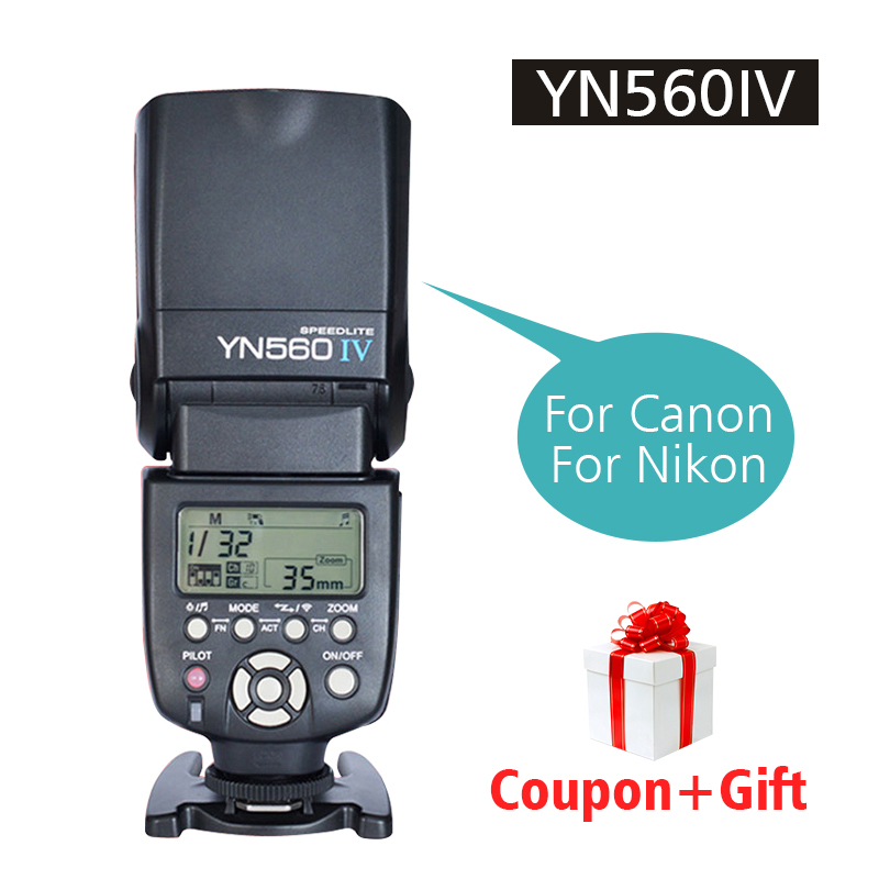 Ulanzi YONGNUO YN560 IV Flash Speedlite Wireless Flash Controller YN560III+YN560-TX Speedlite For Canon Nikon Olympus Panasonic цена