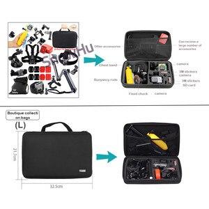 Image 3 - Snowhu acessórios câmera de armazenamento portátil grande saco caso para xiaomi yi câmera ação para go pro herói 9 8 7 6 5 4 3 sj4000