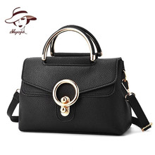 SHYOJO New Fashion Brand Women's Single Shoulder Bag Ladies Shoulder Purse Crossboday Bag And With Metal Button Fashion Handbags