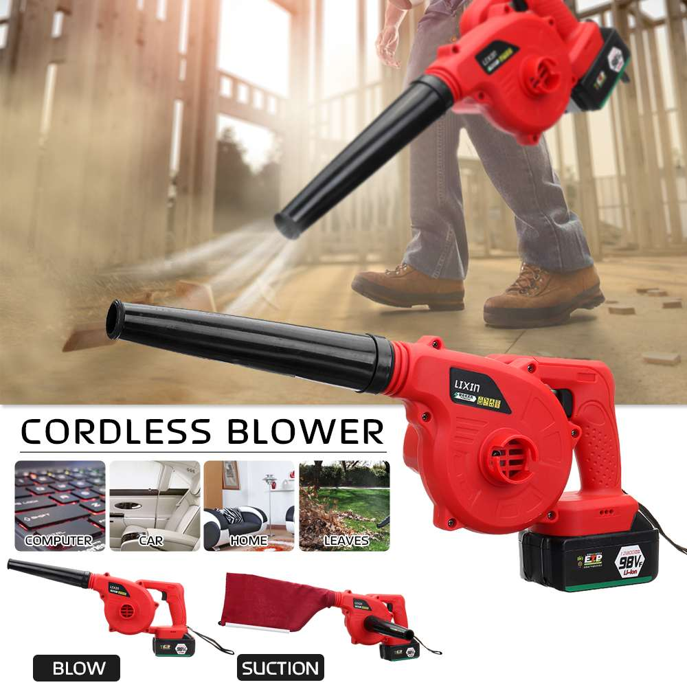 Handheld 220V Cordless Leaf Blower Dust Sweeper Vacuums 12800mAh Li-ion Battery Cordless Blower With Blowing And SuctionHandheld 220V Cordless Leaf Blower Dust Sweeper Vacuums 12800mAh Li-ion Battery Cordless Blower With Blowing And Suction