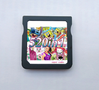 Free Shipping 520 IN 1 Games Cartridge Cards for DS Video Game