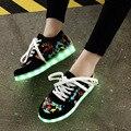 Kriativ carregamento usb chinelos criança shoes tênis brilhantes levou fazer com light up girls shoes infantil sneakers tenis levou luminosa