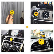 Smile Face Air Conditioner Outlet Aromatherapy Female Car Interior Creative Decoration Solid