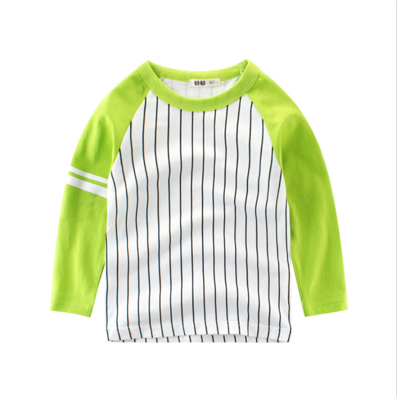 Sports T-shirts Boys Shirts Kids Clothing Tshirts Girl Boys Sports Top Girls Boys Tee Cotton Spring Fall Striped Clothes Shirt